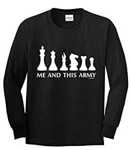 Chess Game Pieces Me and This Army Youth Long Sleeve T-Shirt