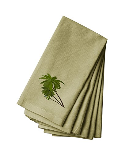 (Style In Print Cotton Canvas Dinner Napkin Set of 4 Palm Tree Flower)