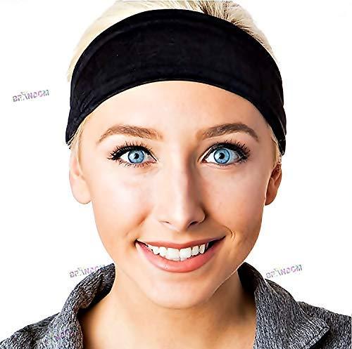 4786b1c2402 BRANDOM Sports Headbands for Women   Men - Moisture Wicking Athletic  Stretchable Sweatband - Premium Fitness