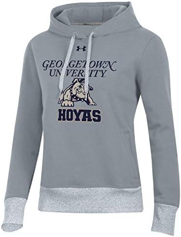 Georgetown University NCAA Hoyas Elevated Cropped Hood Sweatshirt Hoodie