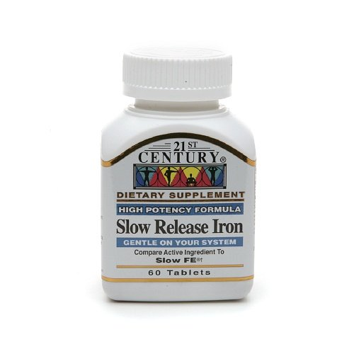 21st Century Slow Release Iron, Tablets 60 ea Pack of 4 (Century Slow Release Iron compare prices)