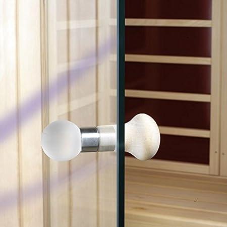 Saunatür Glas türknauf set glas holz für tür amazon co uk diy tools
