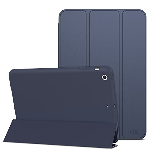 ATiC Case for iPad Mini 3 / 2 / 1, Slim Smart Stand Case with Soft TPU Back Cover for Apple iPad Mini 1 (2012) / iPad Mini 2 (2013) / iPad Mini 3 (2014), INDIGO (Will not fit iPad Mini 4) (Apple Ipad Mini2 Smart Case)