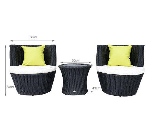 HOMCOM 45 - Conjunto de sillones y Mesa para jardín (Resina ...