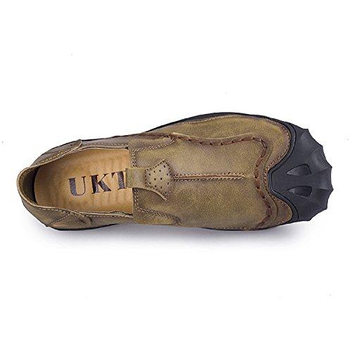 TQGOLD Uomo Marrone Scarpe Mocassini in Elegante Pelle Scarpe PTq7rwP