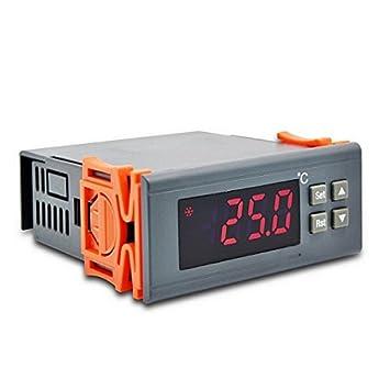 Ringder DT-5 Termohigrómetro interior y exterior de doble temperatura termómetro digital termómetro habitación: Amazon.es: Electrónica
