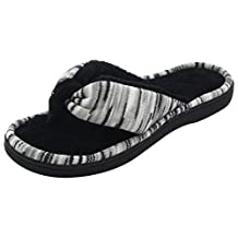 RockDove Memory Foam Flip Flops for Women, Spa & House Thong Slippers w/ Indoor Outdoor Sole