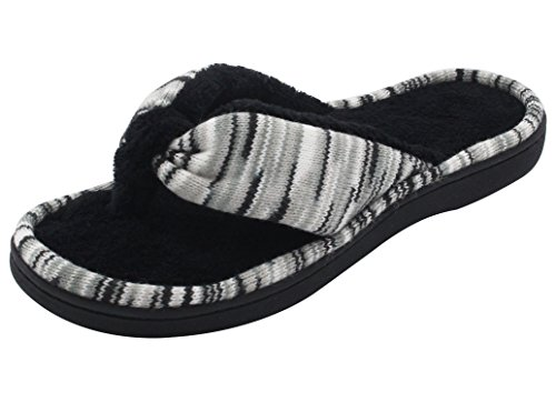 e3282dc9d61c RockDove Women s Open Toe Memory Foam Flip Flop Slippers