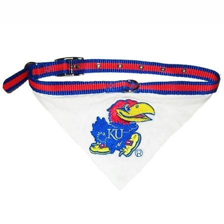 Mirage Pet Products Kansas Jayhawks Bandana for Dogs and Cats, Small