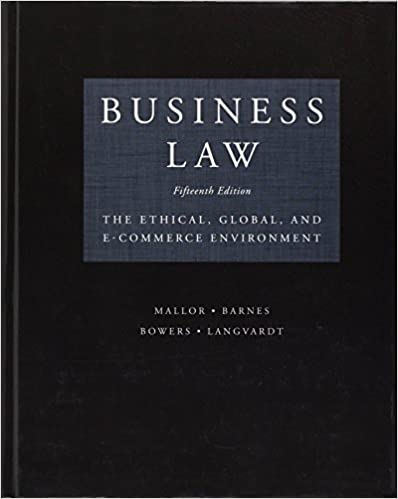 Business Law, 15 edition