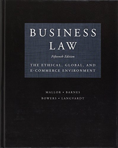 Business Law:Ethical,Global,...