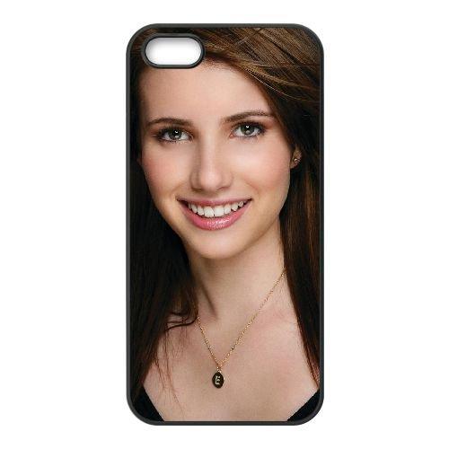 Emma Rose Roberts Normal coque iPhone 5 5S cellulaire cas coque de téléphone cas téléphone cellulaire noir couvercle EOKXLLNCD23506