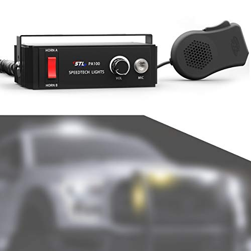 PA 100 Watt Public Address System with Handheld PA Microphone and Dual Horn PA System