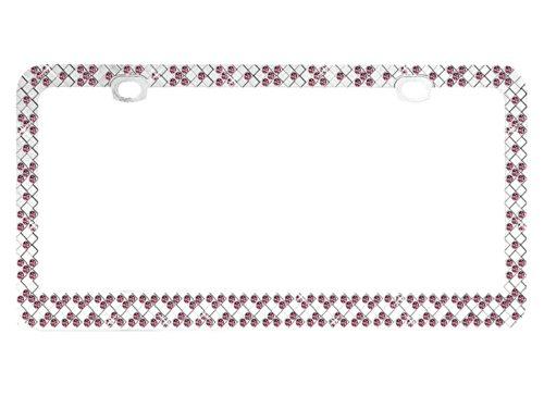 valor-lpf2hc007pnk-design-license-plate-frame-with-crystals