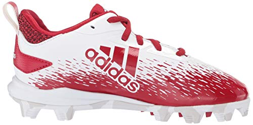 adidas Adizero Afterburner V Baseball Shoe White/Power red/Grey 5 M US Big Kid by adidas (Image #7)