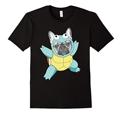 Mens French Bulldog With Warturtle Costume Shirt Bulldogs Gift XL Black