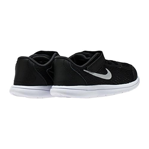 Nike Boy's Flex 2017 RN (TDV) Running Shoes (10 Toddler M, Black/Metallic Silver)