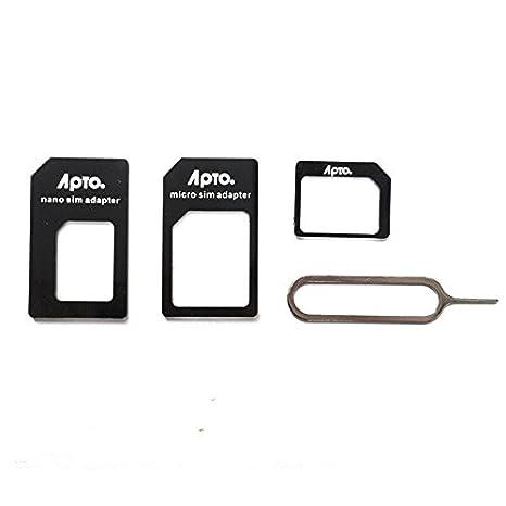 Apto - Kit de adaptadores para tarjetas SIM (nano SIM y ...