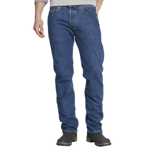 Levis Mens 501 Straight Jeans