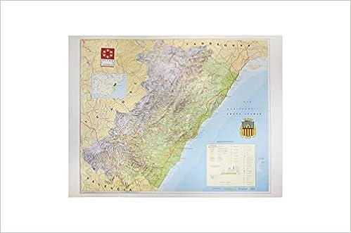 Mapa en relieve de Castellón: Escala 1:200.000: Amazon.es ...