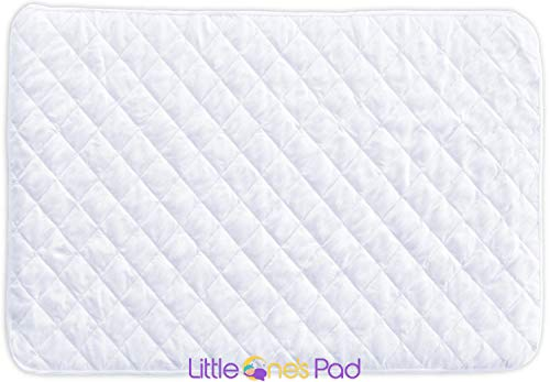 Little One's Pad Pack N Play Crib Mattress Cover - Fits ALL Baby Portable Cribs, Play Yards and Foldable Mattresses - Waterproof, Dryer Safe and Hypoallergenic - Comfy and Soft Fitted Crib Protector by Little One's Pad
