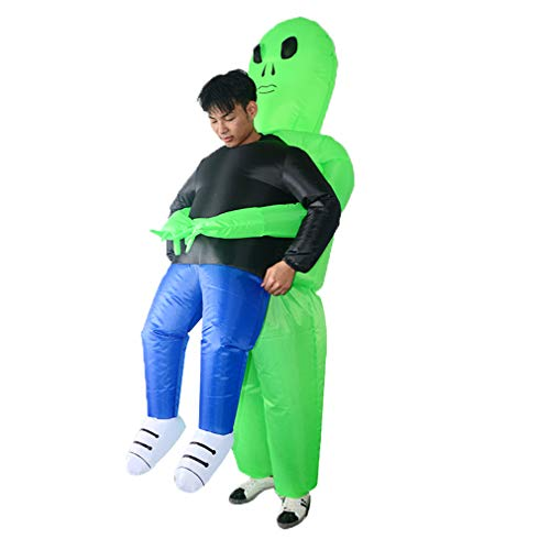 SIREN SUE A ET Alien Inflatable Costume for Halloween Show Fancy Dress Cosplay Blow Up for Adult Green]()