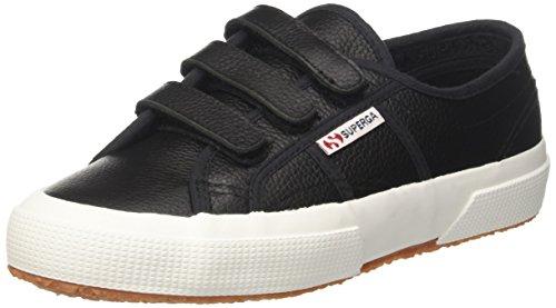 Superga 2750-efgl3velu, Sneaker a Collo Basso Unisex-Adulto Black-white