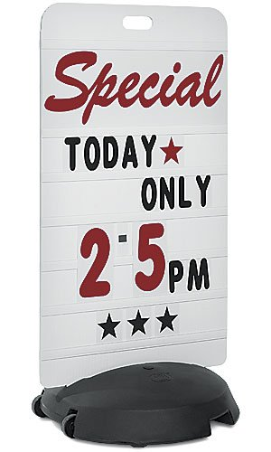 New Retails Tip-n-Roll Rolling Sign Deluxe Message Board 24''W x 46''H x 1/2''D by Rolling Sign
