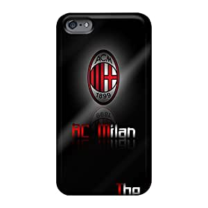 Bumper Cell-phone Hard Cover For Apple Iphone 6 Plus With Provide Private Custom Attractive Ac Milan Image Hardcase88