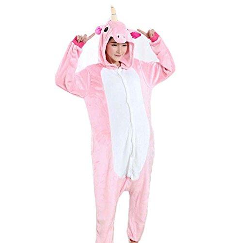 WRH Animale adulto un pezzo pigiama Pegasus unicorno amanti abbigliamento casa prestazioni Abbigliamento Natale/Halloween costume del fumetto , m