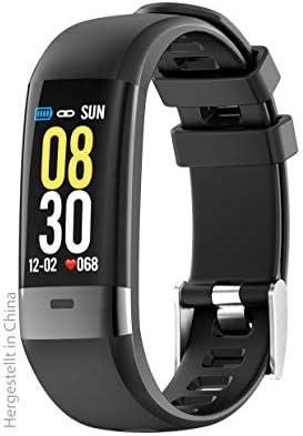 Swisstone 620 ECG Smart-Wearable (mit Bluetooth Funktion und Herzfrequenzmessung sowie EKGüberwachung) schwarz
