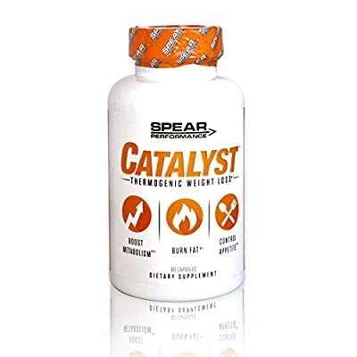 SPEAR Performance Catalyst- Thermogenic Lipolytic Fat Burner & Weight Loss Supplement 30 Servings Natural Veggie Capsules Control Appetite and Reduce Cravings. Increased Energy and Fat Burning