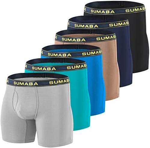 Details about  /Men/'s Bamboo Boxer Briefs Underwear Big and Tall Long Leg Athletic Running Under