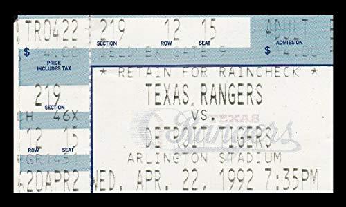 (1992 Texas Rangers v Detroit Tigers Ticket 4/22/92 Palmeiro HR 24932)