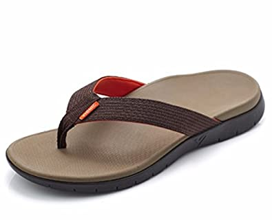 bf8937540771 Vionic Orthotic Men s Islander Sandal with FMT Technology - Brown - UK 8   Amazon.co.uk  Shoes   Bags