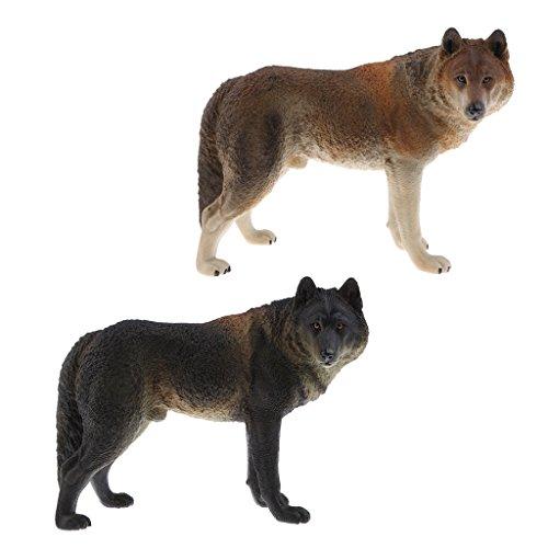 Perfk リアル 子ども ギフト ブルドッグ 科学 自然玩具 ウルフ模型 動物モデル フィギュア おもちゃ 全2点の商品画像