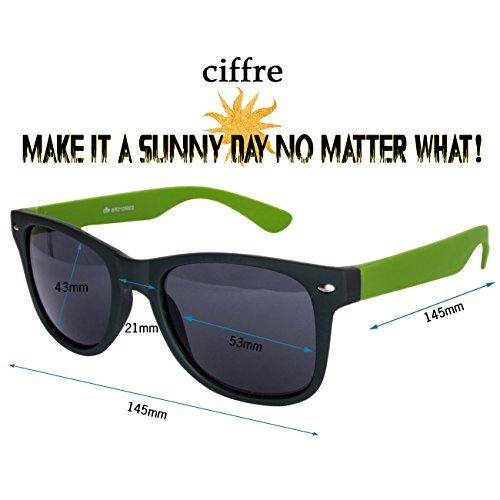 vintage et style lunettes clear Black paire différents Multicolore modèles style style Nerd soleil env lunettes de coloris aviateur de wayfarer disponibles Matt Grün 80 qI7Txxwt