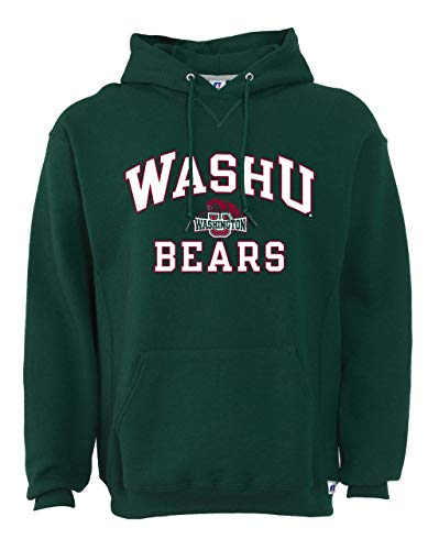 Russel Washington-St Louis Bears Adult Arch N' Logo Hooded Sweatshirt - Green, Medium