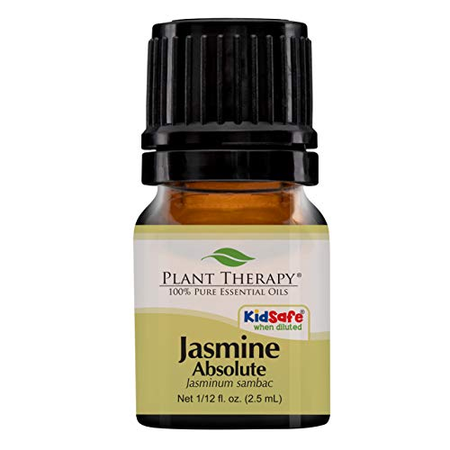 Plant Therapy Jasmine Absolute Essential Oil | 100% Pure, Undiluted, Natural Aromatherapy, Therapeutic Grade | 2.5 Milliliter (1/12 Ounce)