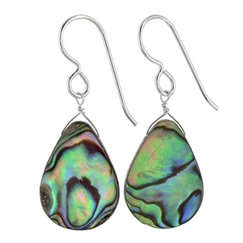 Aurora Abalone Pearl Sterling Silver Handmade Earrings by Ashanti
