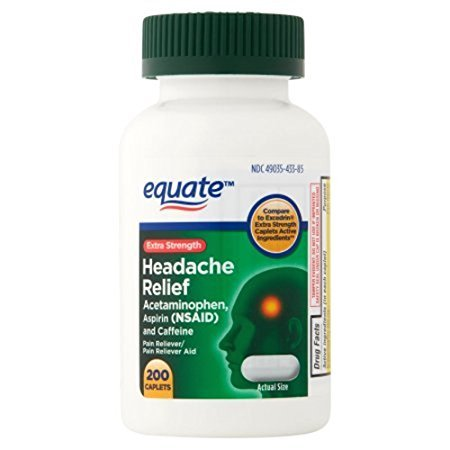 Equate - Headache Relief, Extra Strength, Acetaminophen, Aspirin and Caffeine, Coated Tablets, ()