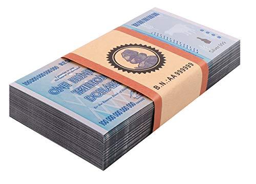 50× $100 One Hundred Trillion Dollar Zimbabwe Silver Banknote Set/w Rock COA