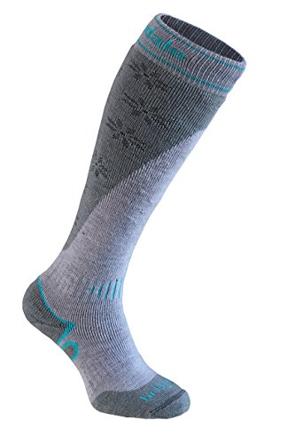 Bridgedale Women's Mountain Socks, Stone Grey, Medium - Heavyweight Ski Sock