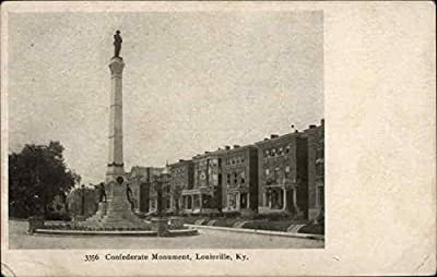 Confederate Monument Louisville, Kentucky Original Vintage Postcard
