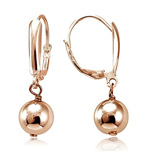 Hoops & Loops Flash Plated Rose Gold Sterling Silver Dangling Bead - Gold Sales Australia