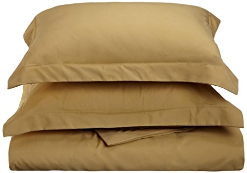 Pillow Shams Set of 2 - Luxury 500 Thread Count 100% Egyptian Cotton Cushion Cover Euro Size Decorative Tailored Poplin European Pillow Sham (Taupe Solid, European/Square (26 x 26 Inch)) by Precious Star Linen