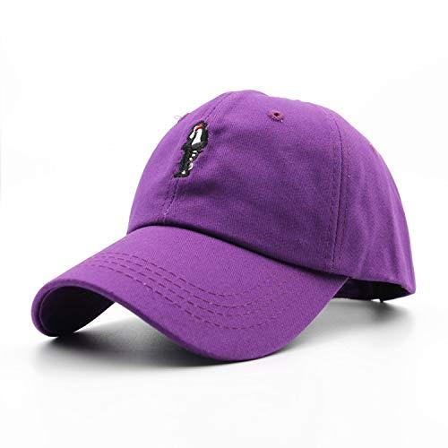 Unisex Michael Jackson Embroidery Baseball Cap Curved Dad Hat Men Women Cap Golf Snapback Hip Hop Casual Cap Purple