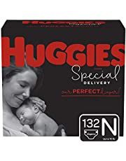Huggies Special Delivery Hypoallergenic Baby Diapers, Size Newborn (up to 10 lbs.), 132 Count, ECONOMY PLUS Pack