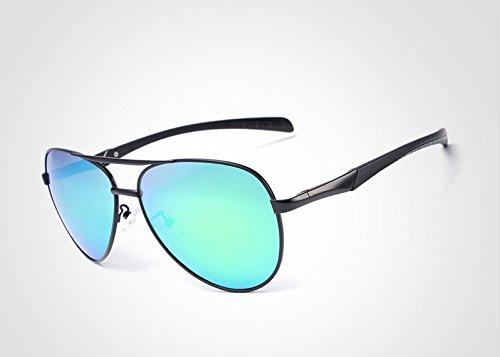 para polarizadas de de Piloto Gafas Hombres Sol Gafas Borders Marca Green Hombres Moda de Sol Gafas Gafas polarizadas conducción Metal Diseño la Ciclismo de Ruanyi UV400 xqOZIq