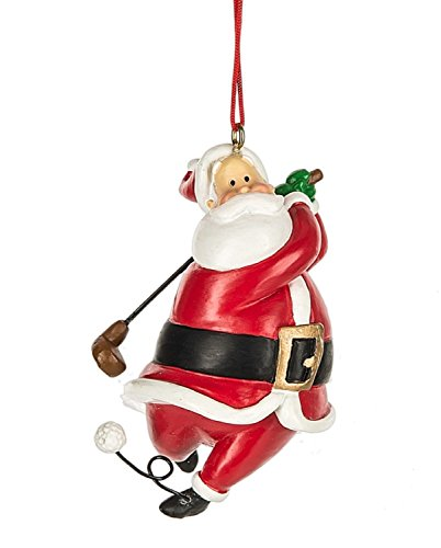 - Midwest CBK Santa Golfer Christmas Holiday Ornament 3 Inches